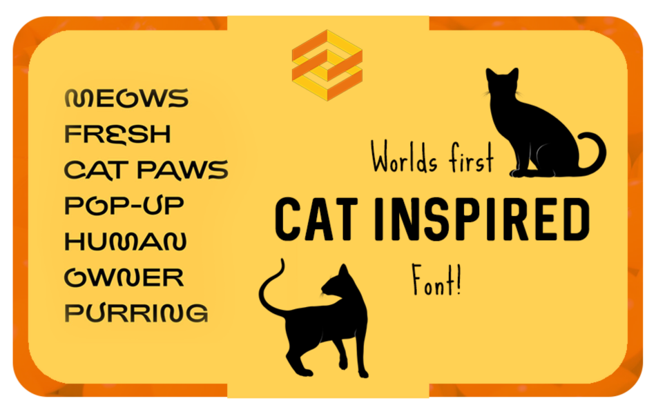 World First Cat Inspired Font